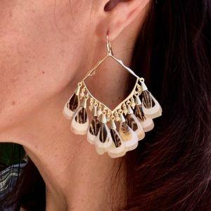 KENDRA SCOTT Raven feathers earrings